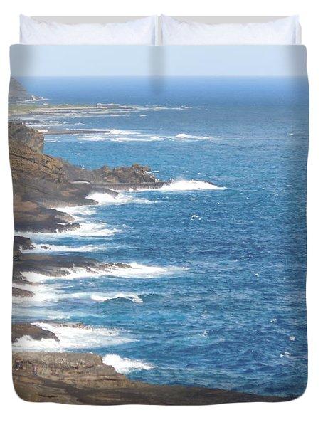 Oahu Coastline Duvet Cover by Karen J Shine