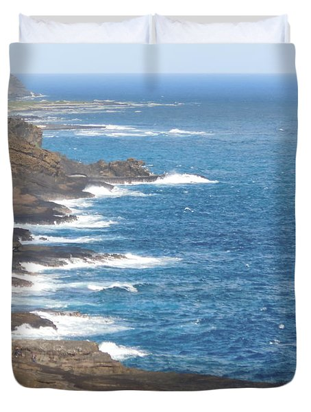 Oahu Coastline Duvet Cover