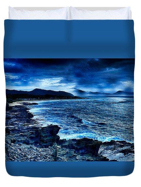 Oahu Coastline Duvet Cover