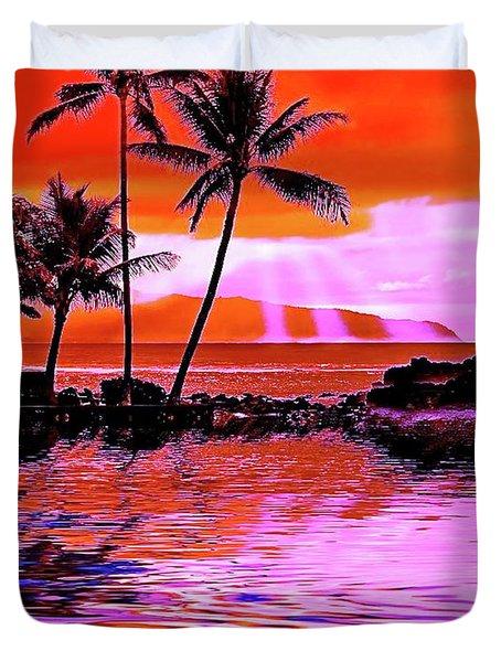 Oahu Island Duvet Cover