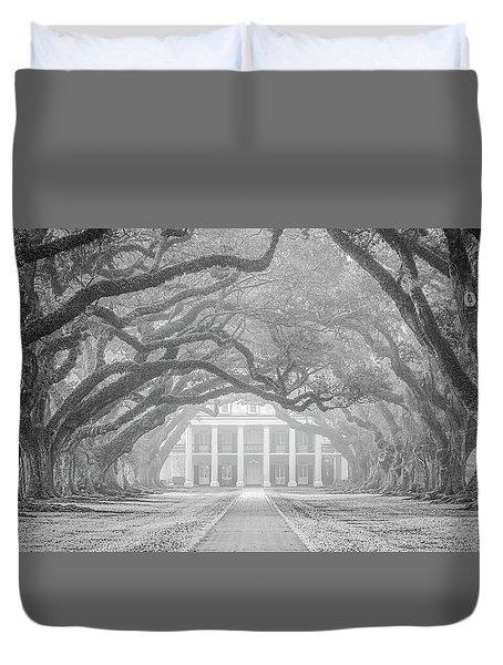 Oak Alley Fog Duvet Cover