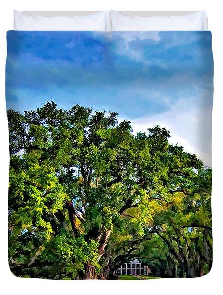 Oak Alley Plantation Duvet Cover by Steve Harrington