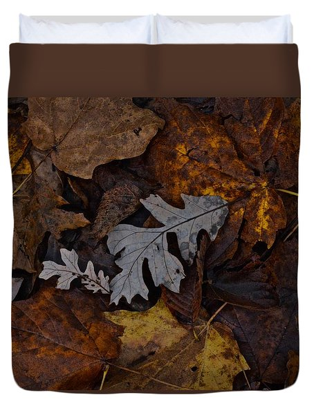 Oak And Maple Leaves Duvet Cover