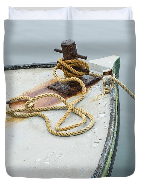 Oak Bluffs Fishing Boat Duvet Cover
