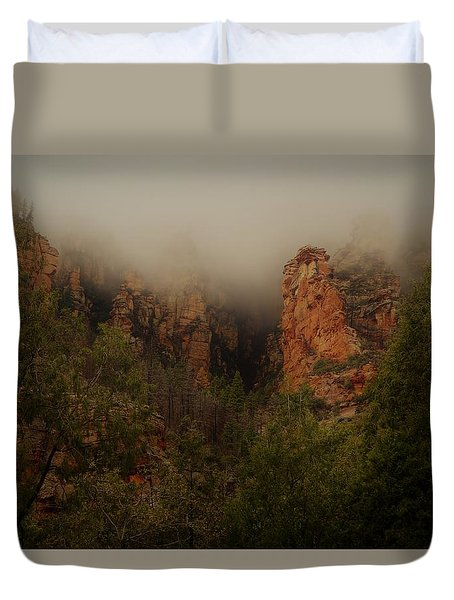 Oak Creek Canyon Arizona Duvet Cover