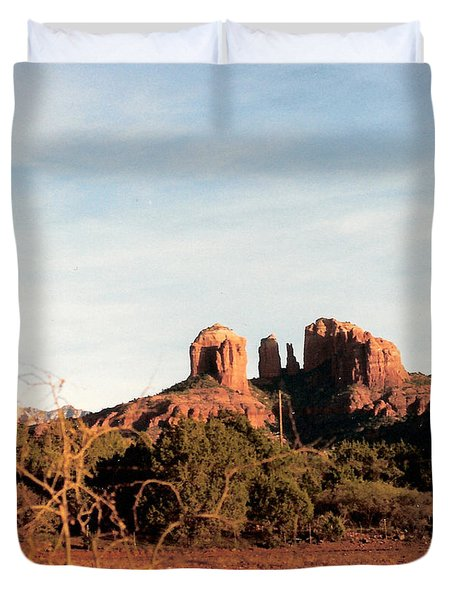 Oak Creek Canyon Duvet Cover by Lauri Novak