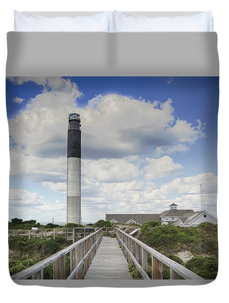 Oak Island Lighthouse Duvet Cover