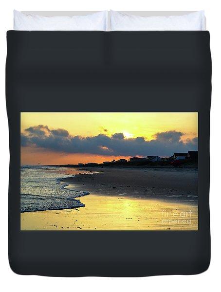 Oak Island Yellow Sunset Duvet Cover