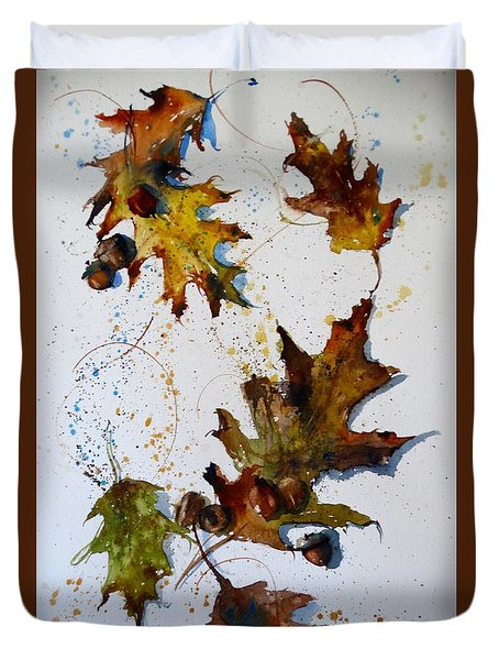Oak Leaves Duvet Cover by Sandra Strohschein