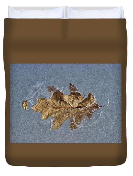 Oak On Ice Duvet Cover