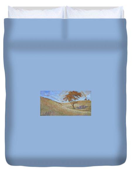 Oak Savanna, Autumn Duvet Cover
