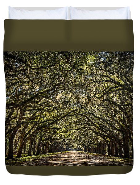 Oak Tree Tunnel Duvet Cover