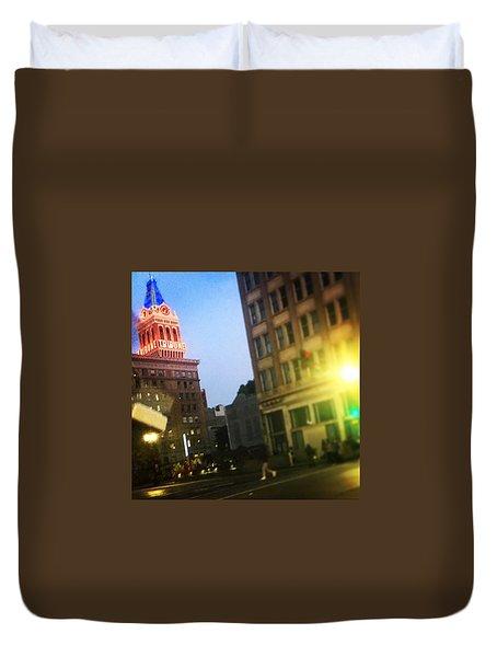 Oakland Lights Duvet Cover