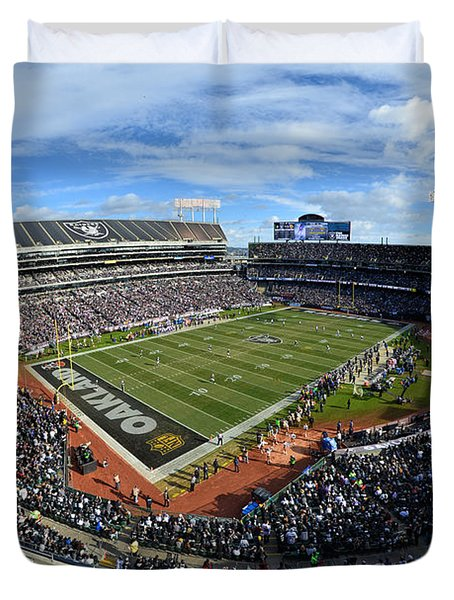 Oakland Raiders O.co Coliseum Duvet Cover