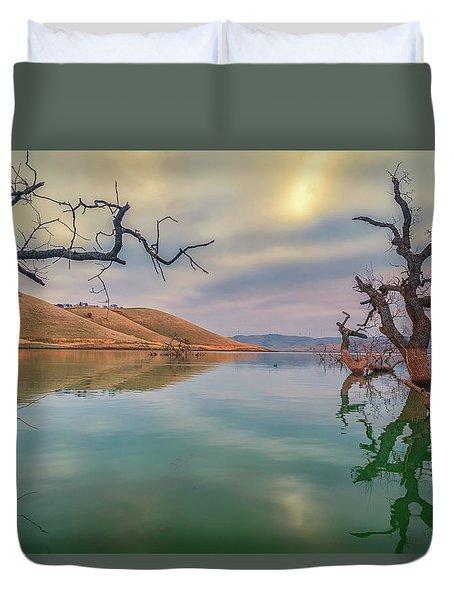Oaks In Water Duvet Cover