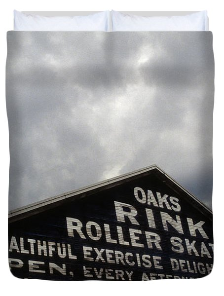 Oaks Skating Rink Duvet Cover