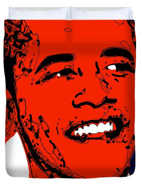 Obama Hope Duvet Cover by Rabi Khan