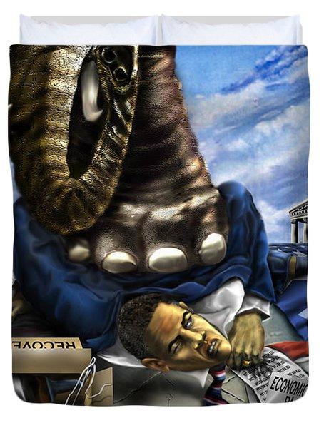 Obama Duvet Cover by Reggie Duffie