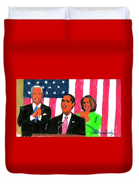 Obama's State Of The Union '10 Duvet Cover by Candace Lovely