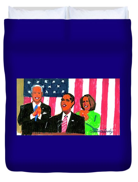 Obama's State Of The Union '10 Duvet Cover
