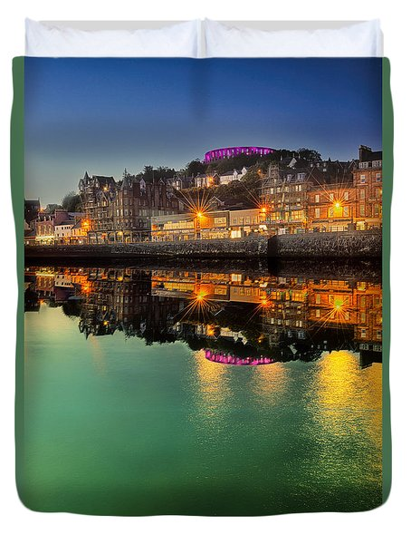 Oban By Night Duvet Cover