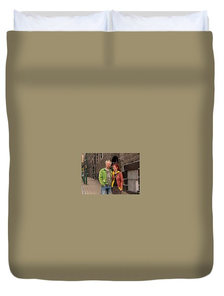 Oban Tourists Duvet Cover