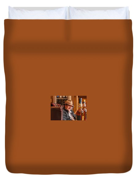 Oban Whisky Shop Duvet Cover
