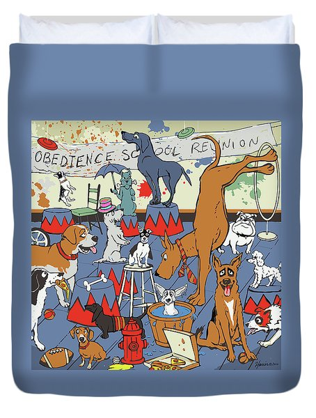 Obedience School Reunion Duvet Cover