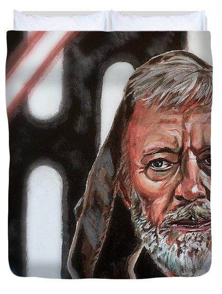 Duvet Cover featuring the painting Obi-wan Kenobi's Last Stand by Joel Tesch
