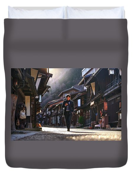 Duvet Cover featuring the photograph Oblivious To The Beauty Around by Peter Thoeny