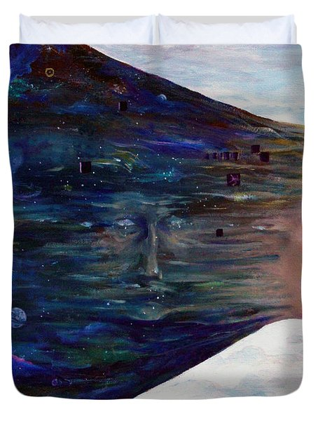 Duvet Cover featuring the painting Observe by James Andrews