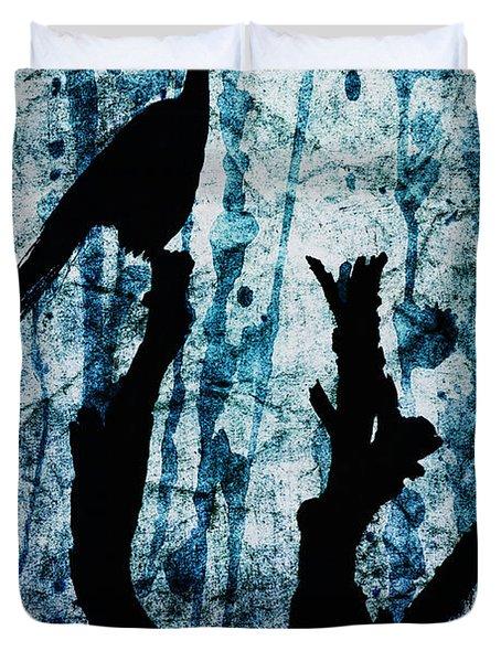 Obsidian Realm Duvet Cover by Andrew Paranavitana