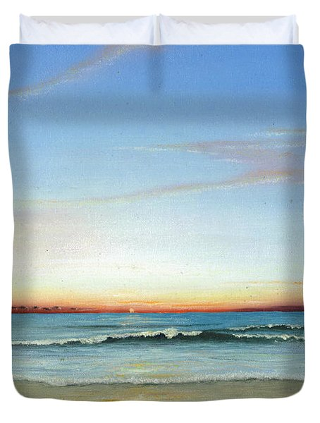Obx Sunrise Duvet Cover by Albert Puskaric