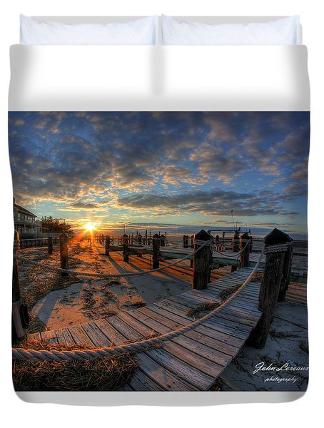 Oc Bay Sunset Duvet Cover
