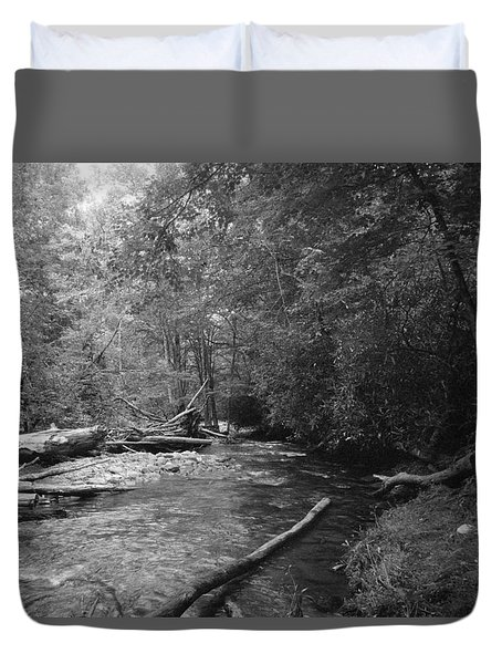 Ocanaluftee River - Great Smokey Mountains Duvet Cover