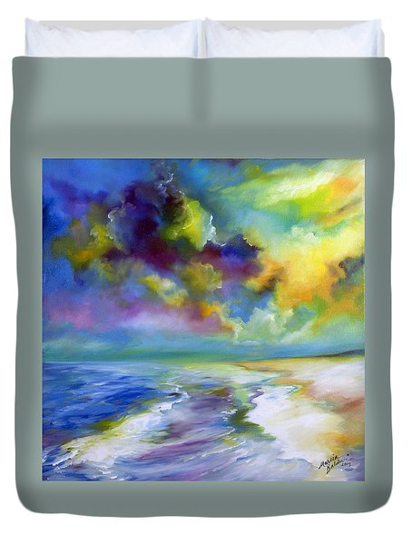 Ocean And Beach Duvet Cover