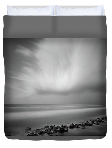 Ocean And Clouds Duvet Cover