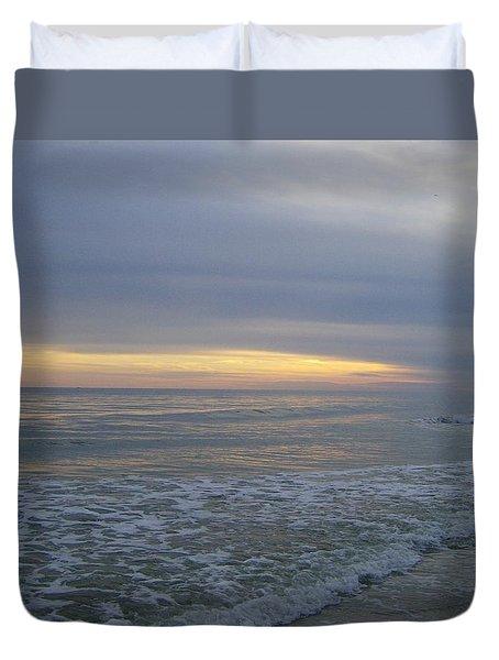 Ocean At Sunset Duvet Cover