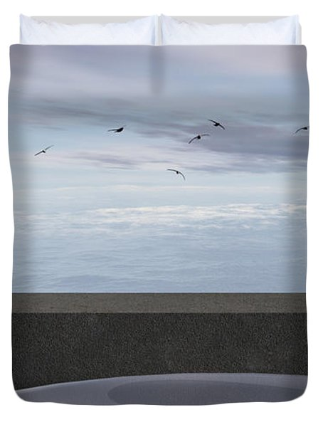 Ocean Balcony Duvet Cover by Richard Rizzo