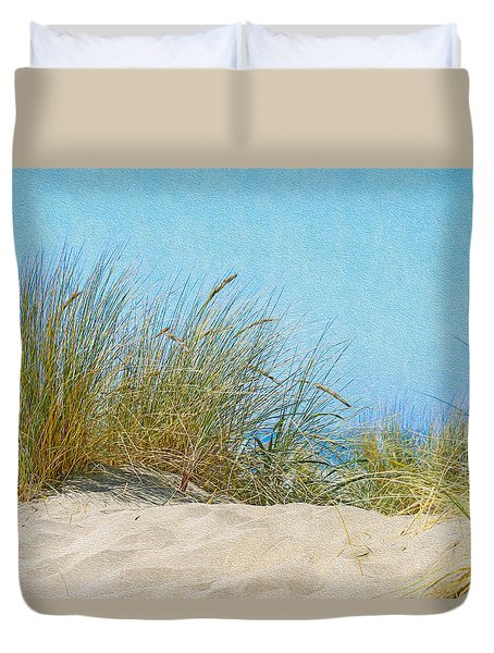 Ocean Beach Dunes Duvet Cover