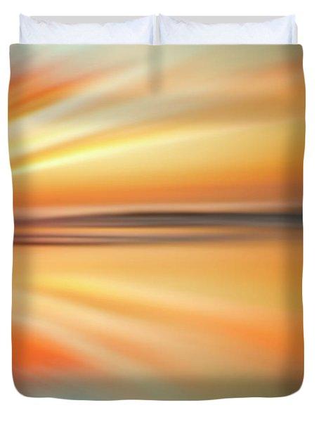 Ocean Beach Sunset Abstract Duvet Cover