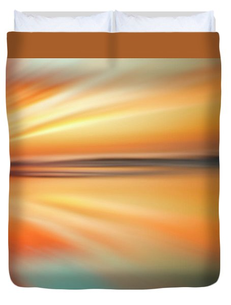 Ocean Beach Sunset Abstract Duvet Cover