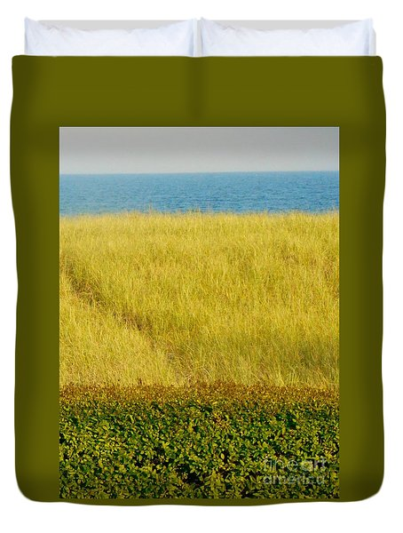 Ocean View Joseph's By The Sea Old Orchard Beach Maine Duvet Cover by Patricia E Sundik