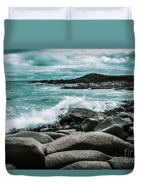 Ocean Blue Granville Harbour Duvet Cover