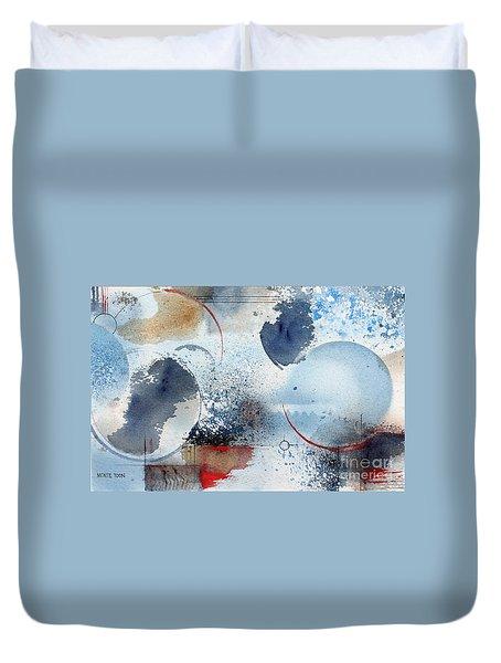 Ocean Blue Duvet Cover by Monte Toon