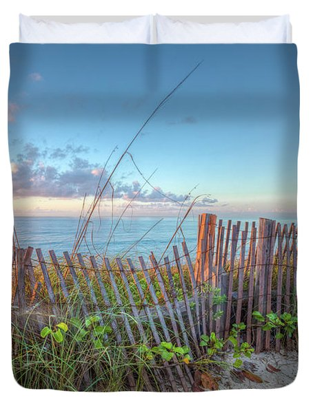 Duvet Cover featuring the photograph Ocean Blues by Debra and Dave Vanderlaan