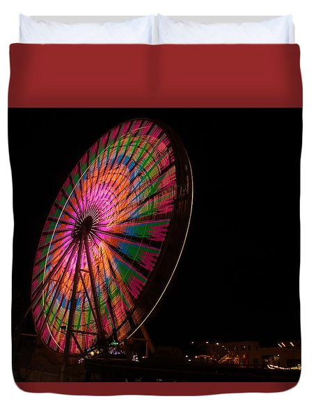 Ocean City Ferris Wheel 2 Duvet Cover
