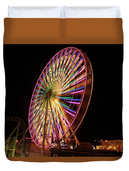 Ocean City Ferris Wheel1 Duvet Cover