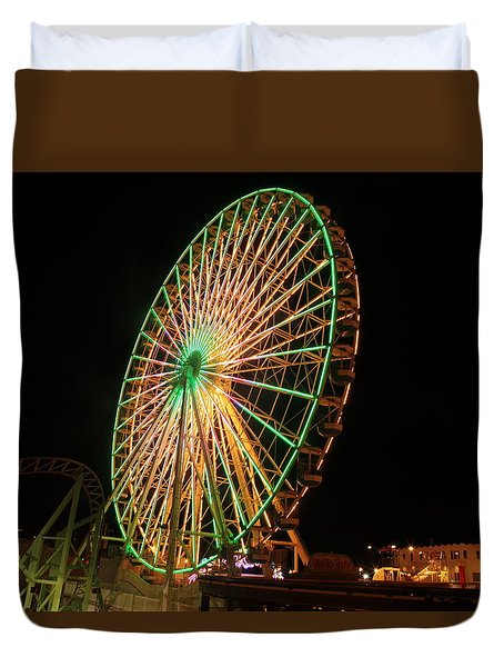 Ocean City Ferris Wheel3 Duvet Cover