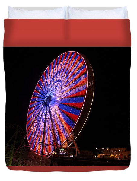 Ocean City Ferris Wheel4 Duvet Cover